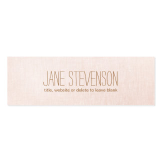 Minimalistic is Sweet Light Pink Linen Look Pack Of Skinny Business Cards
