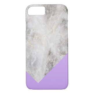 Minimalistic Marble w\ Color Block Light Purple iPhone 8/7 Case