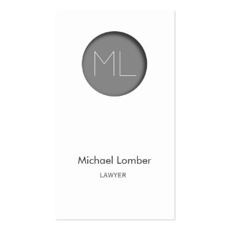 Minimalistic modern Business Card grey circle