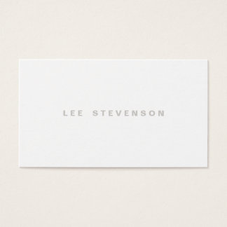 Minimalistic Modern Plain White Professional Business Card