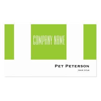 Minimalistic modern square green business card