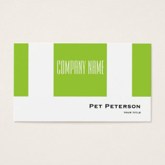 Minimalistic modern square green business card