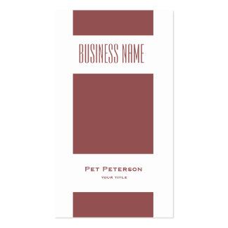 Minimalistic modern square marsala business card