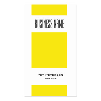 Minimalistic modern square yellow business card