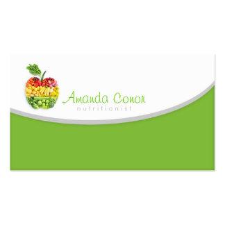 Minimalistic Nutritionist/Nutrition Coach Card Business Card