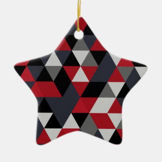 Minimalistic polygon pattern (Prism) Ceramic Ornament