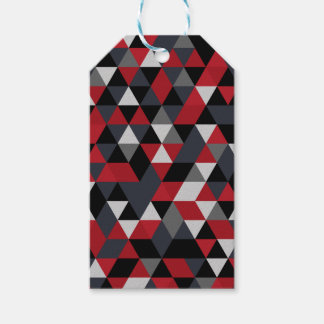 Minimalistic polygon pattern (Prism) Gift Tags
