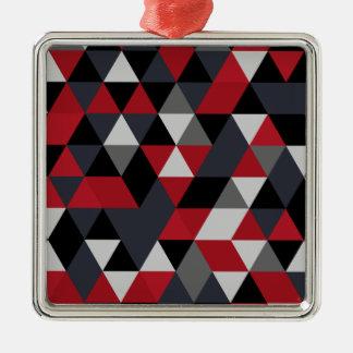 Minimalistic polygon pattern (Prism) Metal Ornament