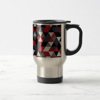Minimalistic polygon pattern (Prism) Travel Mug
