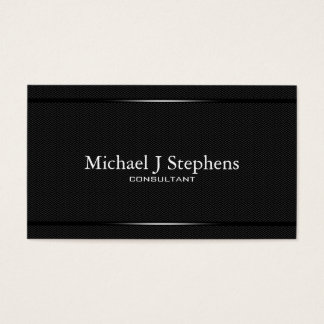 Minimalistic  Professional Black Herringbone Business Card
