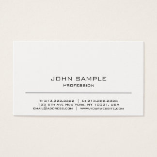 Minimalistic Professional Modern White and Grey Business Card
