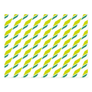 Minimalistic rhombus abstract pattern postcard