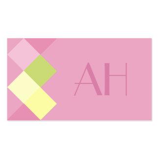 Minimalistic Rose Squares & Monogram Pack Of Standard Business Cards