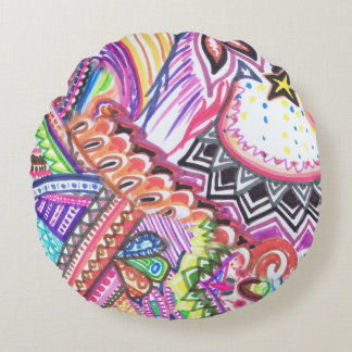 minimalistic samples round pillow