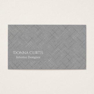 Minimalistic Sketchy Stripes Business Card