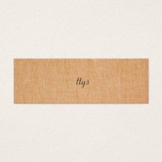 Minimalistic TTYS Faux Linen Mini Business Card
