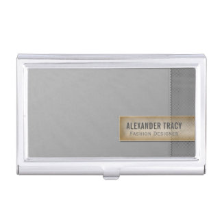 Minimalistic Two-tone Gray Business Card Holder