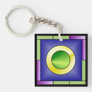 Minimalistic World Art Deco Keychain