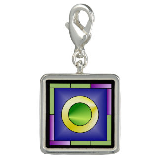 Minimalistic World Art Deco Photo Charms