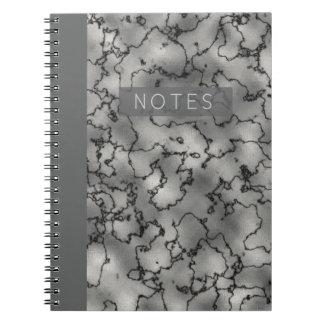 Minimalist's Dramatic Marble Notebooks