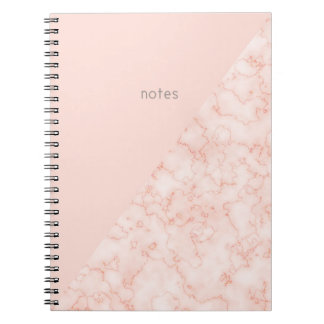 Minimalist's Marble and Blush Pink Notebooks