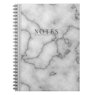 Minimalist's  Marble Spiral Notebook