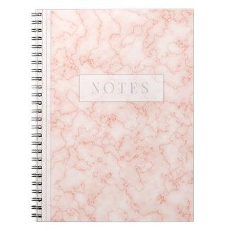 Minimalist's Rosey Marble Notebooks