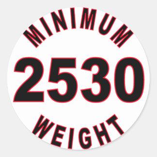 Minimum Weight 2530 Round Classic Round Sticker