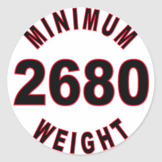 Minimum Weight 2680 Round Classic Round Sticker