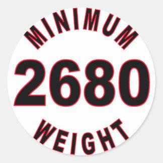 Minimum Weight 2680 Round Round Sticker