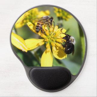 Mining Bee & Honey Bee on Wildflower Gel Mousepad