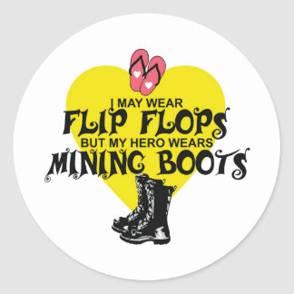 MINING BOOTS CLASSIC ROUND STICKER