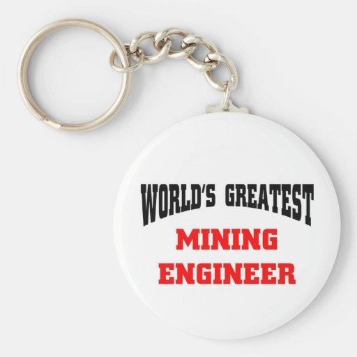 Mining engineer keychain