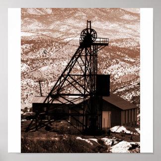 Mining Rig, Gold Hill, Nevada Poster