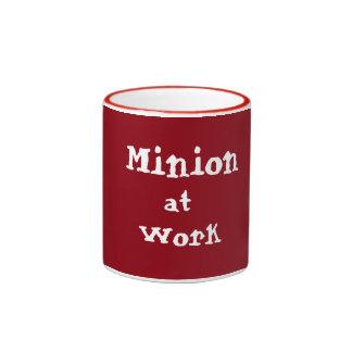 Minion at Work Ringer Mug