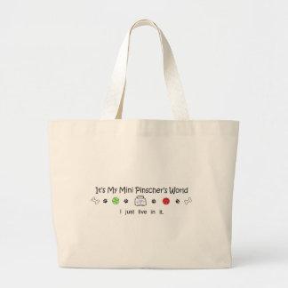 MiniPinscher Large Tote Bag