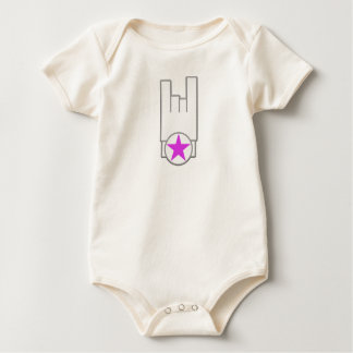 MINIROC GURL (HOOD.METAL.R&B) BABY BODYSUIT