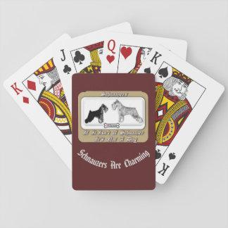 MiniSchnauzers Standard Schnauzers Playing Cards