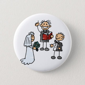 Minister Priest Reverend Performs Wedding Ceremony 2 Inch Round Button