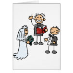 Minister Priest Reverend Performs Wedding Ceremony Greeting Card