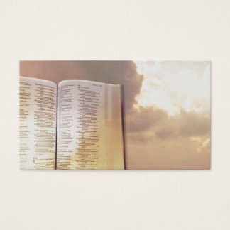 Ministry Book Golden Sky Light Business Cards