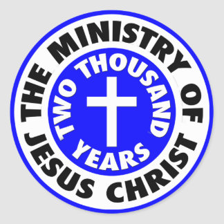 Ministry of Jesus Christ Classic Round Sticker
