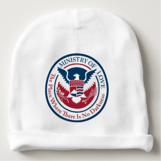 ministry of love, official seal baby beanie