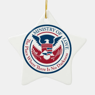 ministry of love, official seal ceramic ornament