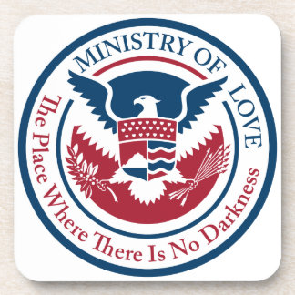 ministry of love, official seal coaster