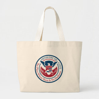 ministry of love, official seal large tote bag