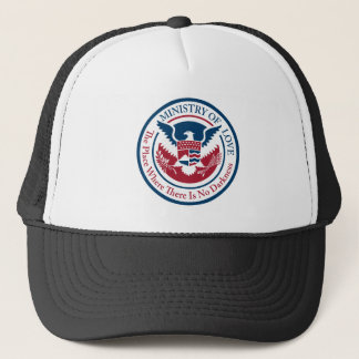ministry of love, official seal trucker hat