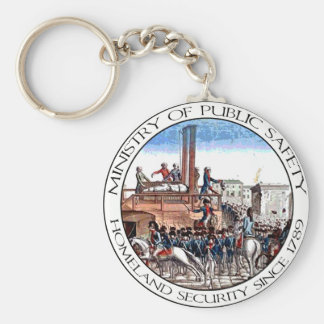 Ministry of Public Safety Basic Round Button Keychain