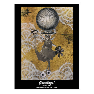Ministry of Travel Steampunk Postcard