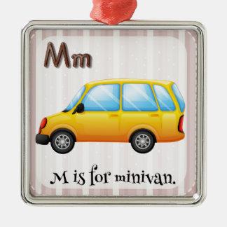 Minivan Metal Ornament
